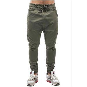 EUC Olive ARSNL Drop Crotch Twill Jogger